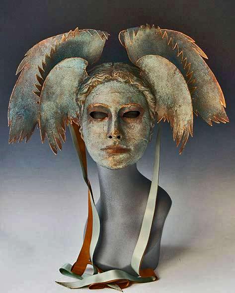 Aegean-Goddess mask TheArtOfTheMask-on-Etsy