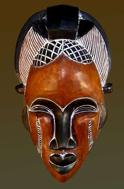 African Mask from the Tikar tribe of Cameroon-17inches-high-Genuineafrica-com