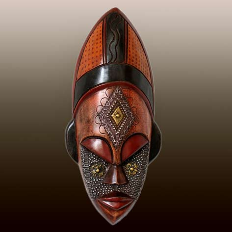 Ghanaian craved wood mask