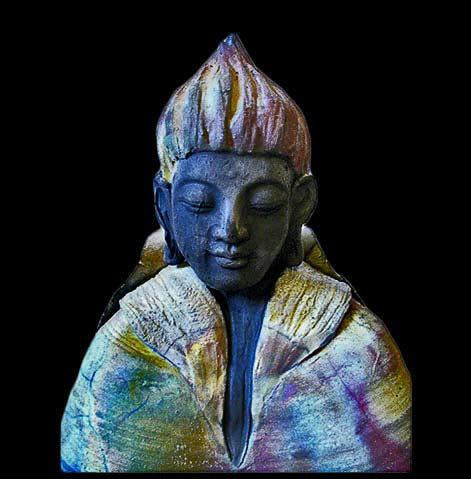 Anita-Feng-thebuddhabuilder ceramic Buddha bust