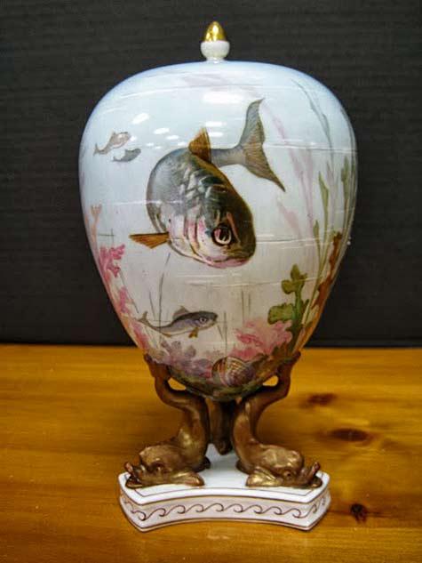 Wedgwood-China-Vase with fish motif