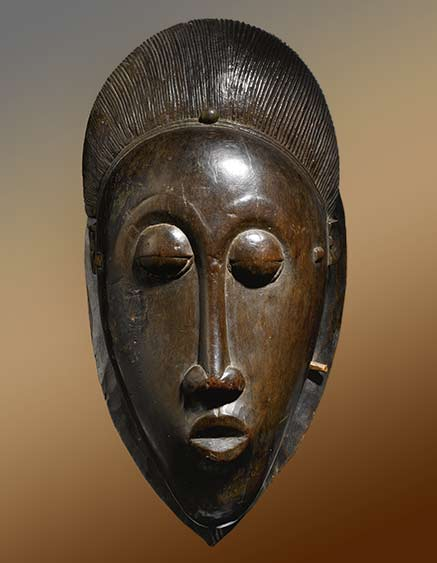 Carved wooden Baule Mask - Africa