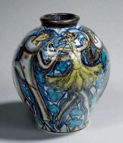 Edourad Cazaux Baluster-vase