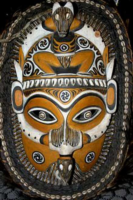 Tribal mask Billy-Kiten-mask,-Sepik-River