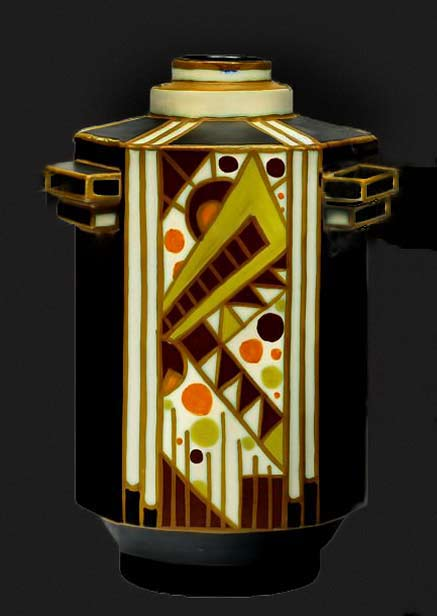Abstract Jazz Age Cubist Deco vessel - Charles Catteau