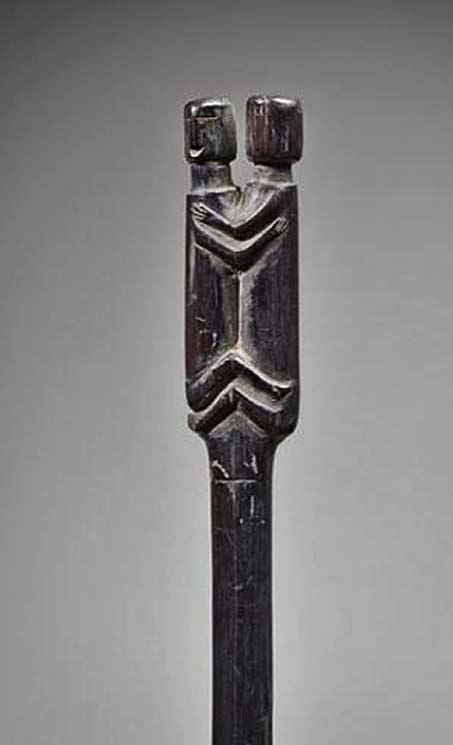 Choco shaman staff carved