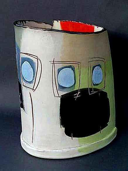 Camilla-Ward slab built ceramic vessel