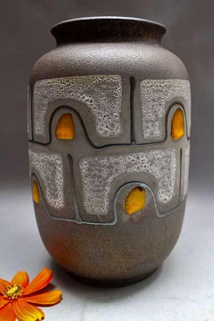 Carstens-Vase lava glaze Mid Century