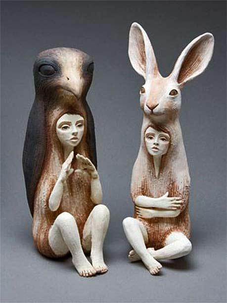 Crystal-Morey animal spirit figures