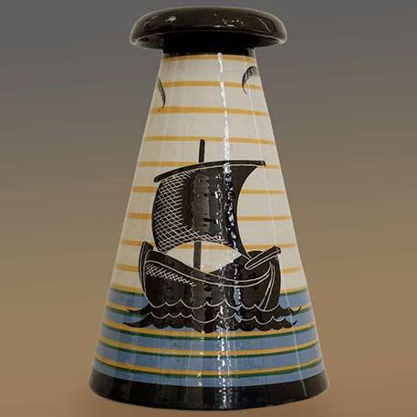 Dante-Baldelli-Ceramic-inverted cone Vase