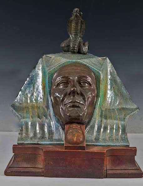 Art-Nouveau-Bronze-and-Terracotta-Egyptian-Burial-Mask