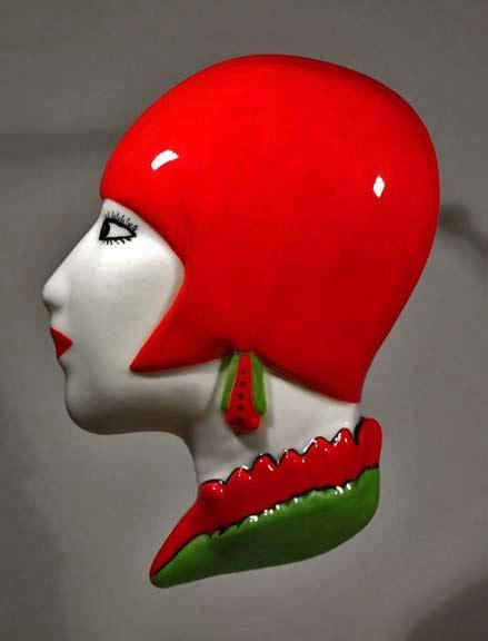 Art Deco Inspired Tamara de Lempicka Wall Mask from Echo Of Deco