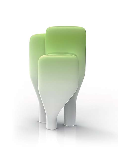 Foret-2---Cedric-Ragot lime green and white vases