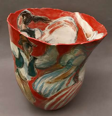 Jitka-Palmer-ceramic cup with dancing