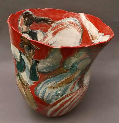 Jitka-Palmer-ceramic cup with dancing