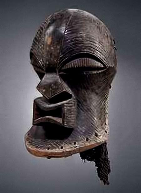 Kifwebe Songye mask carved wood