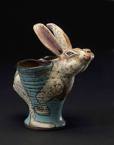 ceramic rabbit planter Lisa Naples