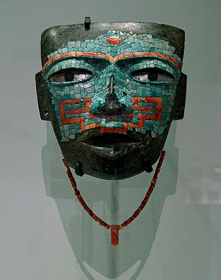 Mosaic Mask from Malinaltepec. Teotihuacan Exhibition