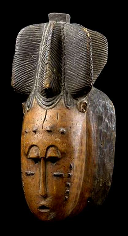 Mask of the 'mblo'-group from the Baule people