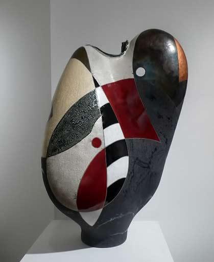 MichaelGustavson-Autumn Dancer abstract sculpture ceramic vessel
