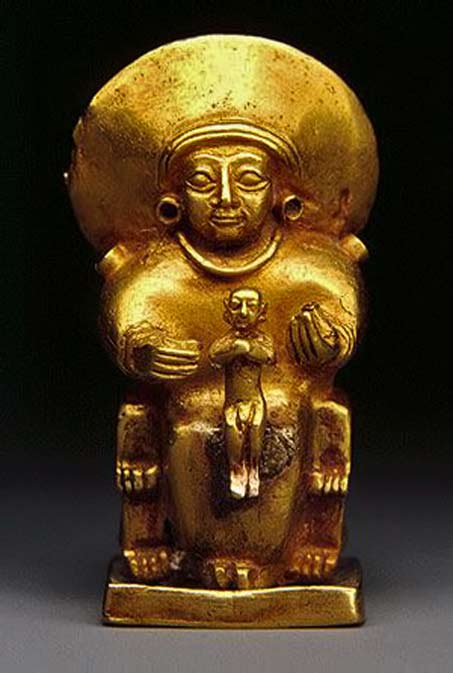 Gold statue - Ancient Hittite sun goddess, more commonly referred to simply as the sun goddess of Arinna.