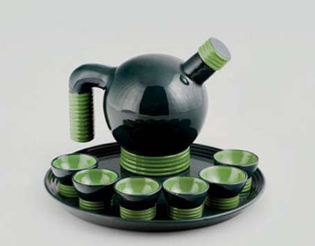 Rometti-liqueur-set green and black gazing