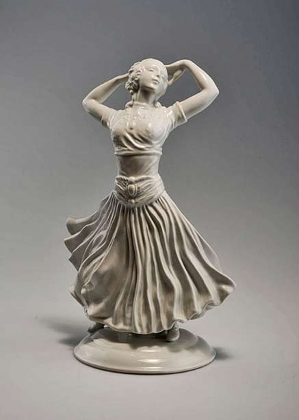 Rosenthal, white porcelain -Dancer-1923