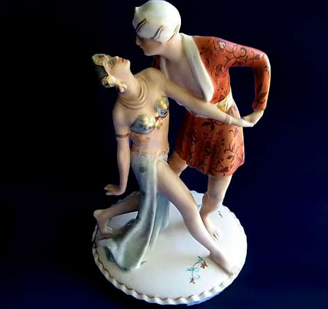 Royal Dux Art Deco Porcelain dancers