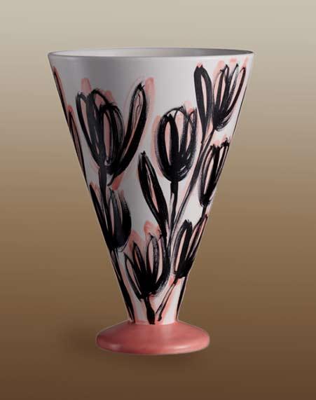Sergio-Fiorentino---Tuffatore-footed vase with floral motif-Rometti