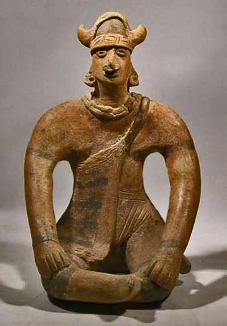 Ceramic Colima_seated_shaman=200BC---200AD