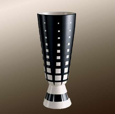 Damier contemporary vase by Rometti