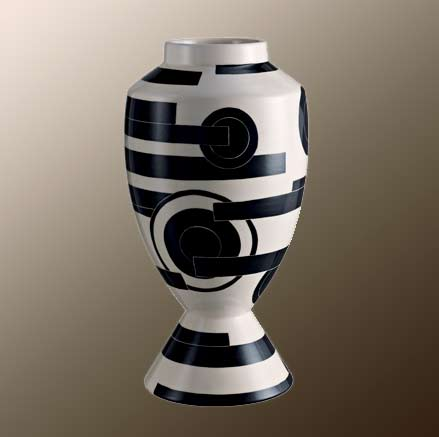 Black and White futuro_vase-Rometti