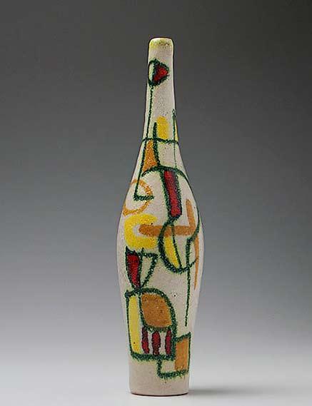 Mid Century Guido Gambone-italy-narrow-vase