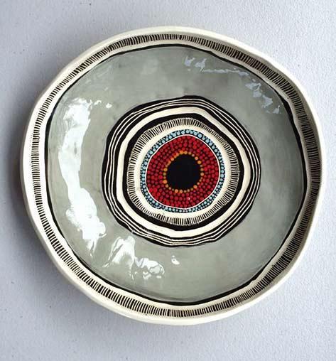 Penny Evens Australian indigenous art vessel