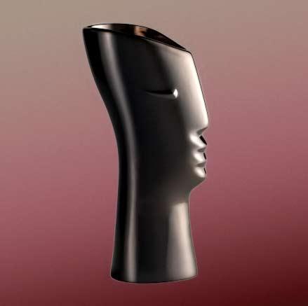 Abstract head vase - Rometti