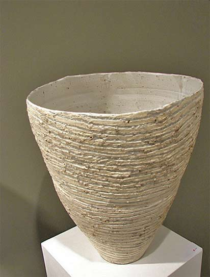 Ani-Kasten ceramic vessel with horizontal ribbing