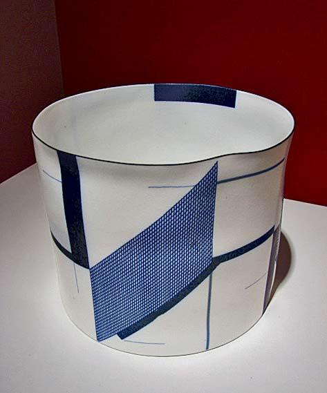 Ceramic 'Architectural Volume (Blue) 1', 2011 -Bodil Manz
