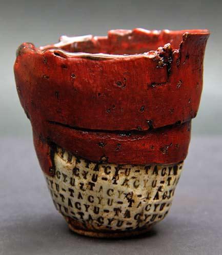 Atsushi-Nakada yunomi cup red glaze
