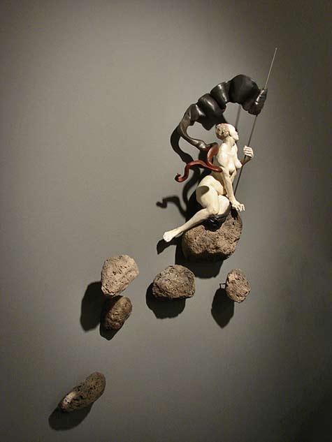 Cristina-Cordova-La-Conquista'-wall sculpture Ann-Nathan-Gallery