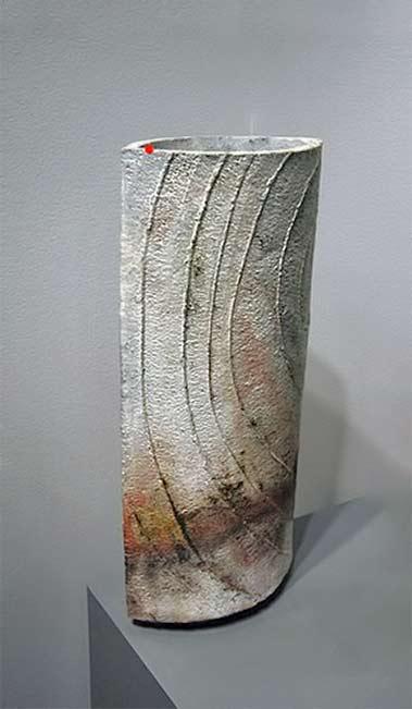Dorte-Visby ceramic raku vase