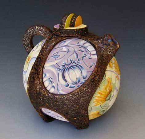 Julia Feld_Flower Basket ceramic teapot