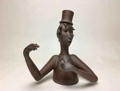 Gerit-Grimm---Tea-Guy-12inch-height ceramic teapot