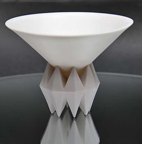 Glazed white glaze sake machine - Kato Yoshiyasu