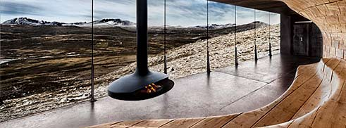 GyroFocus by Focus – Japanese style free-standing fireplace