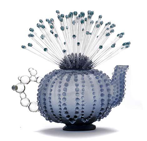 Jennifer Umphress_Uniteapot with blue spikes