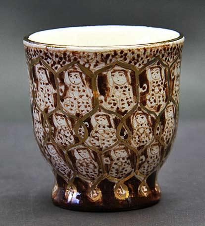 Kanesu Iron painting Persian Shizza cup -- Masutaka