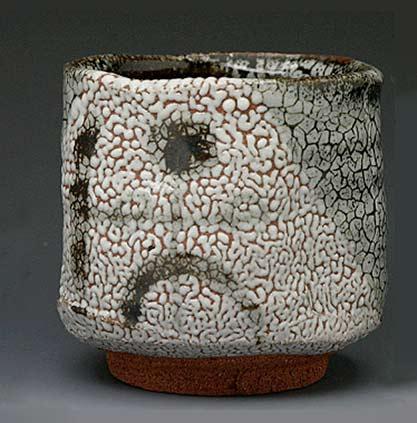 Keisuke Shimatani-tea bowl mottled surface pattern