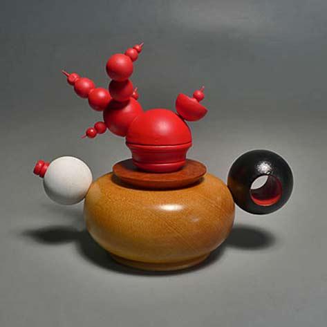 Lindsay Grigsby_Spheres Teapot wood turned