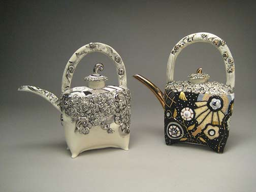 Madeline-Kaczmarczyk beaded teapots
