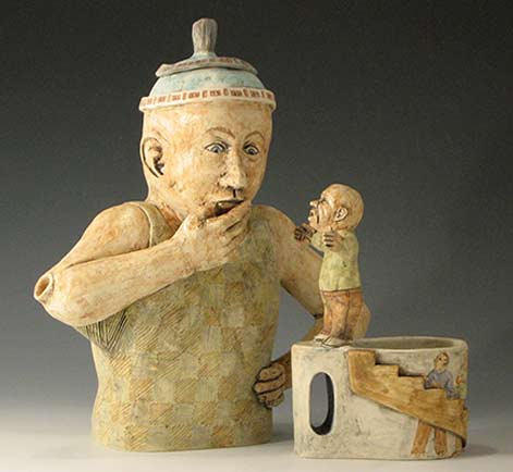 Marilyn-Andrews_PassionnDoubt_figural teapot n cup